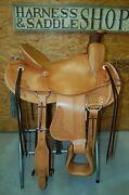 17 G.w. Crate Ranch Saddle Made In Bryant Alabama
