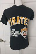Pittsburgh Pirates Vintage 1990 National League East Champions Shirt Youth Small