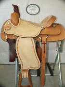 16 G.w. Crate Roping Ranch Saddle Made In Bryant Alabama