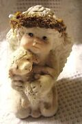 Vintage Dreamsicles By Kristin. Angel Holding A Lamb