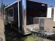 New 8.5 X 18 18and039 Enclosed Concession Food Vending Bbq Mobile Kitchen Trailer