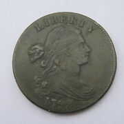 1798 One Cent - Draped Bust Large, Style 2 Hair - Very Fine Condition