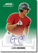 Garin Cecchini 2011 Just Limited Rookie Autograph Green Auto Rc /5