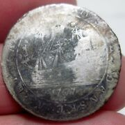 1767 Danish West Indies 12 Skilling Silver ---one Year Type --very Scarce--