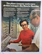 Vintage Original Print Ad 1970and039s Atandt Bell Women Executives 10.25x13 Pa-855
