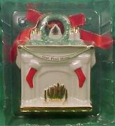 Spode Our First Home Christmas Ornament Boxed 2008 Porcelain Fireplace Stockings