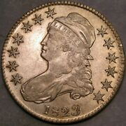 1823 Capped Bust Letter Edge Silver Half Dollar Scarce Appealing Beauty Patch 3