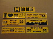 Ncaa Michigan Wolverines Vintage Lot Of 7 Different 1980's Logo Bumper Stickers