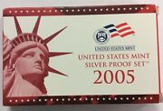 2005 United States Mint Silver Proof Set Coa Included