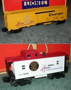 Two Lionel Uncat. Artrain Sp Caboose And Chessie Car U.s.a. Very Limited