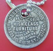 Antique Trade Token Henry Feige And Son 1st Class Furniture Saginaw Michigan
