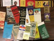Collection Of Old Matchbook Covers More Than 400 With Varied Subjects