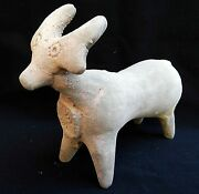 Big Egyptian Iron Age Pottery Zoomorphic Holy Land Clay Calf Ancient Coin Statue