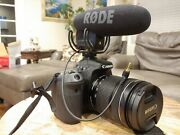 Canon Eos 70d 20.2mp Ef Is Usm 18-135mm Lens, Rode Microphone, 128gb Sd + More