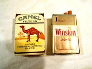 Camel And Winston Cigarette Pack Lighters