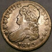 1813 Capped Bust Lettered Edge Silver Half Dollar Very Rare Beautiful O—109a—r.5