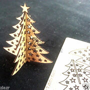 50 Christmas Tree Pop-up Wooden Business Cards Natural Custom Holiday Wood Pack