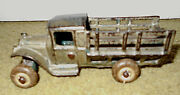 Antique Arcade Cast Iron Stake Bed Farm Truck C.1929 Cast 213l And 213r