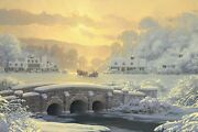 William Phillips Sleigh Ride At Apple Creek Canvas Giclee