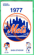 Nice 1977 Mets Schedule-trifold-shea Stadium-6 X 11 Inches