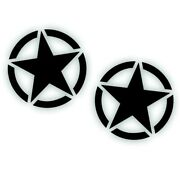 2x Invasion Star Decal 20 For Hood Door Restore Us Army Fits Jeep Wrangler Bk