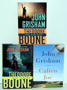 3 By John Grisham -theodore Boone Kid Lawyer And The Activist And Calico Joe