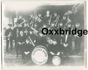 Marconiand039s Band Roselle Park Nj Vintage Photo 1900and039s Early Radio Marching Band