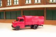 New Ho Scale Wiking 86127 German Fire Department 1960 Opel Blitz Truck With Tarp