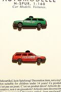 N Scale Busch 8344 Two Vw Passat Station Wagons 1-police 1-fire Dept Model Cars