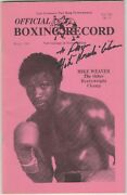 Official Boxing Record Mike Weaver Autographed Cover March 1982