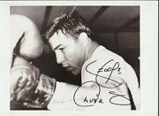 George Chuvalo Boxing Hofer Autographed Original Wire Photo Don Sauer Collection