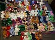 Vintage Ty Beanie Babies Lot Of 160 Bears Rare Collection All Bears