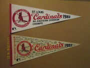 Mlb St,.louis Cradinals Vintage 1982 Eastern Div.champs And Nl Champs Ws Pennants