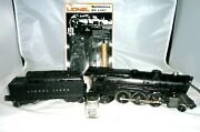 Lionel 2025 Prr Steam K4s W 2466wx Whistle Tender Box / Locomotive And Tender Lot