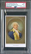1933 Reemtsma German Trade Card 99 George Washington Us President Psa 7.5 Rare