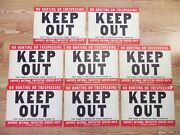 1950s Sign Lot Keep Out Vintage No Hunting Trespassing Cappers Farm No Thieves