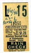 Vintage 1946 Ticket Stub-yankees/philly A's-dimaggio 1 Hit-4/18/46 @ Shibe Park