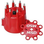 Msd 8433 Extra-duty Replacement Pro-billet Hei Style Distributor Cap Chevy V8