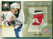 2005-06 Itg Heroes And Prospects Emblems Gold /10 Derek Roy Team Canada Patch