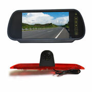 7 Replacement Rear Mirror Monitor + Reverse Backup Camera For Ford Transit Van