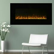 Led Electric Wall Mount Fireplace With Remote And Timer 36 Inch Fire Ice Flame