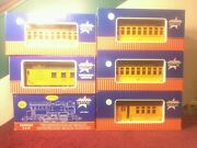 Set Of 6 Usa Trains With Locomotive Caboose And Passenger Cars-docksider Loco