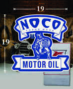 19 X 19 Noco Motor Oil Shield Gas Vinyl Decal Lubester Oil Pump Can Lubster