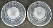 1968 - 1969 Cadillac Fleetwood Hubcap Wheelcover Hubcaps Pr 2 Used Orig 68 69