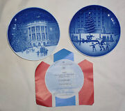 Lot 0f 2 Bing And Grondahl Christmas In America Small Plates From 1987 And 1988