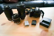 Nikon D5300 And Sigma Art 18-35mm 1.8 Plus Two Kit Lenses - Used Good Condition