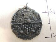 Rare 1916 Brooklyn Daily Eagle Sterling Silver 125 Bowling Medal New York City