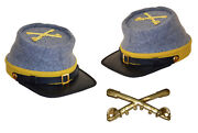 American Civil War Confederate Cavalry Style Kepi With Badge Xlarge 60/61cms