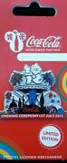 Official Coca Cola Coke London 2012 Olympic Opening Ceremony Pin Badge Brand New