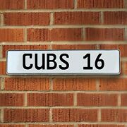 Cubs 16 Mlb Chicago Cubs White Stamped Street Sign Mancave Wall Art Streets Rods